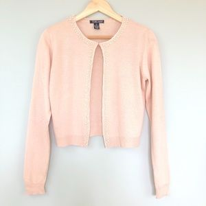 Harold's Pearl Detail Sweater Pale Pink